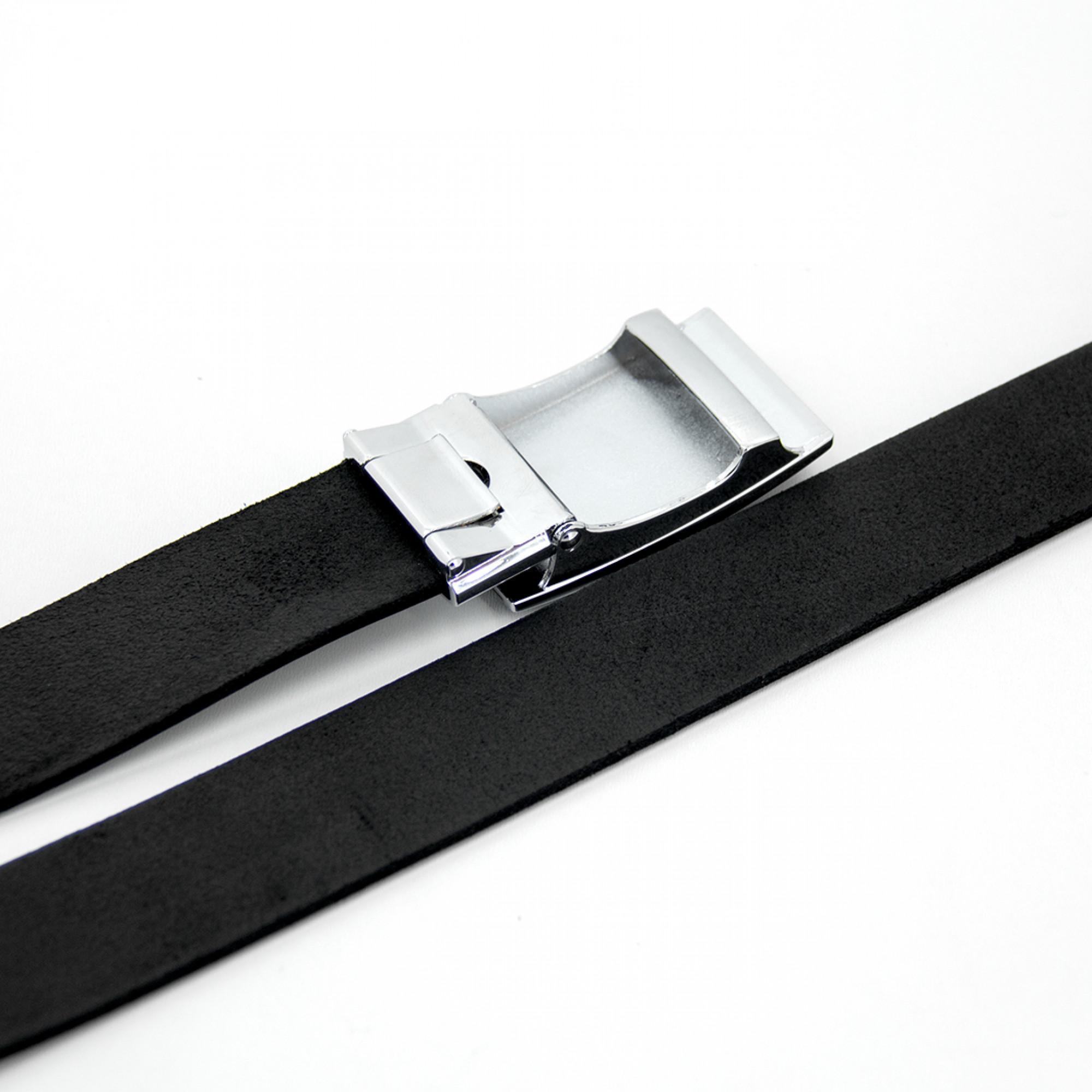 Ремень кожаный R23 Черный