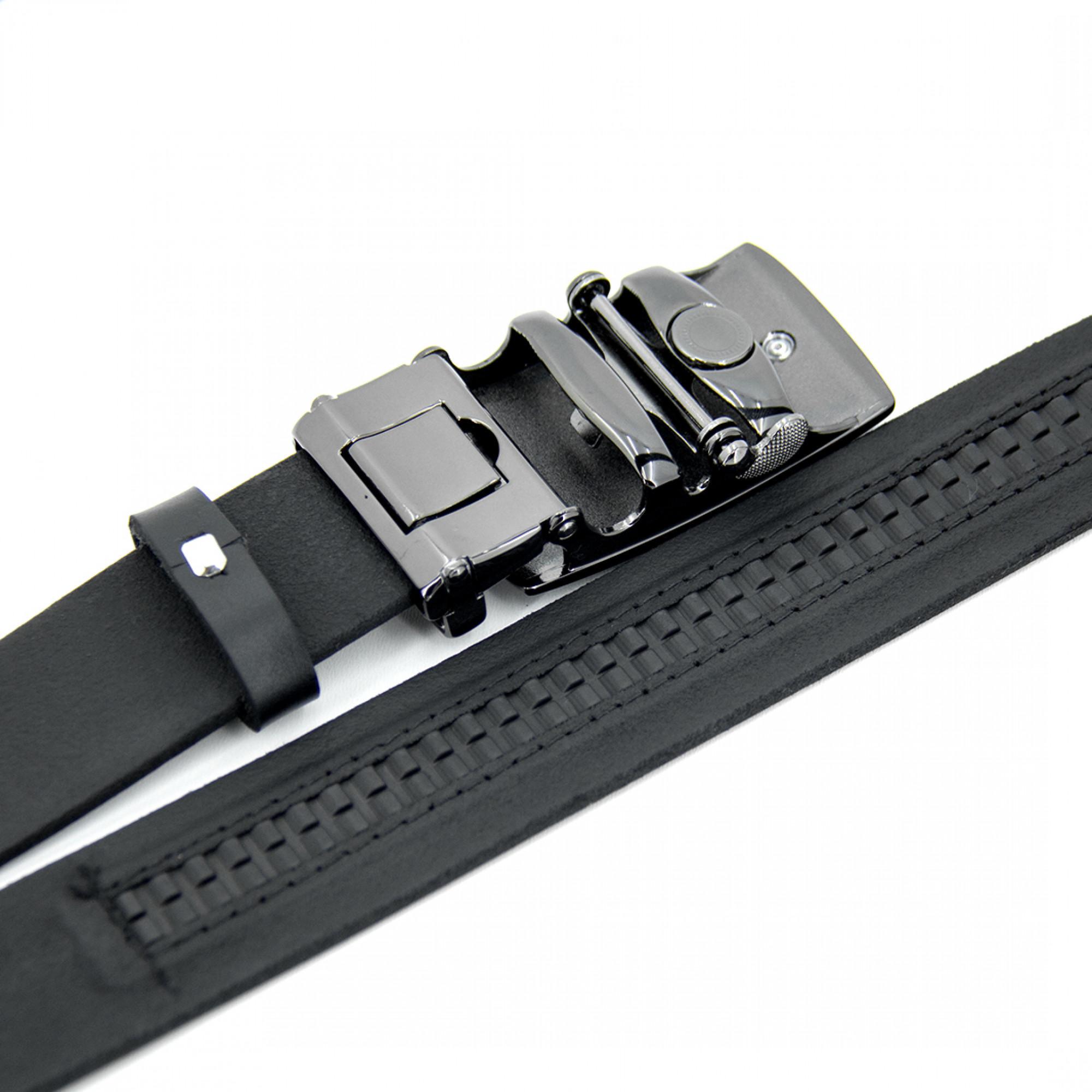 Ремень кожаный R16 Черный